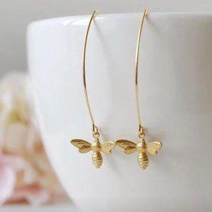 Honey Bee Dangle Earrings